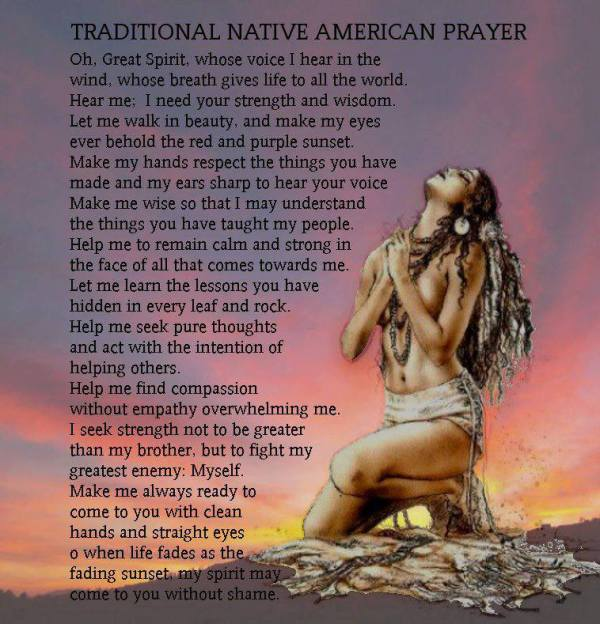 Native American Wedding Quotes: Traditional Native American Prayer