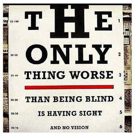 Having Sight but No Vision
