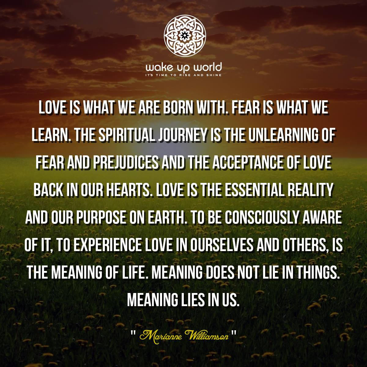 The Meaning Of Life Lies Within! | Endless Light and Love